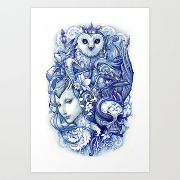 Fables Art Print by Medusa Dollmaker