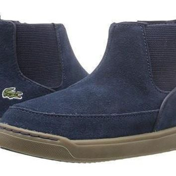 LaCoste Blue Suede Ankle Boots