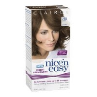 Clairol Nice 'N Easy Non-Permanent Hair Color 755 Light Brown 1 Kit