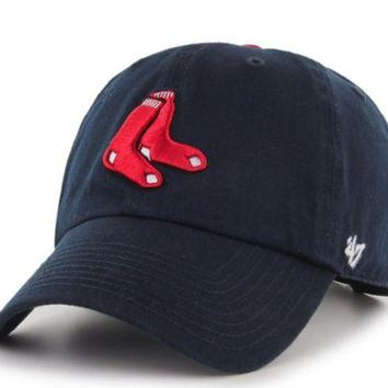 ONETOW Forty Seven Brand Boston Red Sox Alternate Clean Up Hat In Navy