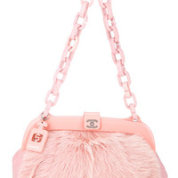 Chanel Vintage Logos Fur Shoulder Bag - Farfetch