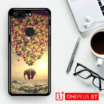 Elephant And Balloon V1482  OnePLus 5T / One Plus 5T Case