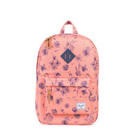 HERSCHEL SUPPLY CO HERITAGE BACKPACK RUBBER RUBY CORAL