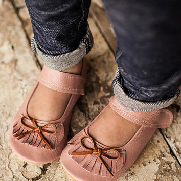 Gracious May Pink Blush Leather Moxie Mary Jane | zulily