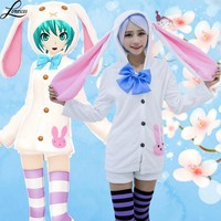 Anime Hatsune Miku Costume Cosplay For Woman and Girl Halloween Carnevale Party Costumes Clothes