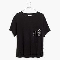 Slub Geo-Stitch Pocket Tee