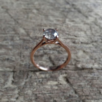 Gwen Ring - Choose your diamond - 4 prong basket set Diamond Solitaire with options