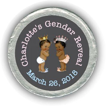 Prince or Princess Gender Reveal Chocolate Coins