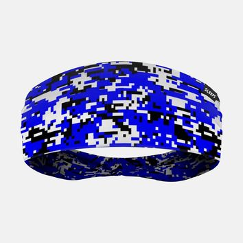 Digital Camo Blue Headband