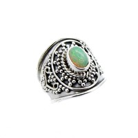 Sterling Silver & Opal Sea Witch Ring