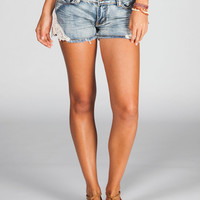 Lost Shine On Womens Denim Shorts Denim  In Sizes