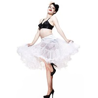 "Hell Bunny white Full Volume Petticoat 25"" Length (XS - M)"