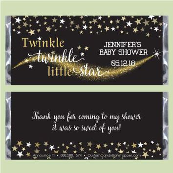 Twinkle Little Star Baby Shower Candy Bar Wrapper