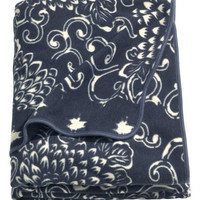 H&M - Fleece Throw - Dark blue/Patterned