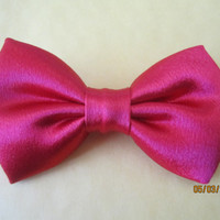 Red Sateen bow tie, Men's red bow tie, Boy's red satin bow tie, Extra snap bow tie.