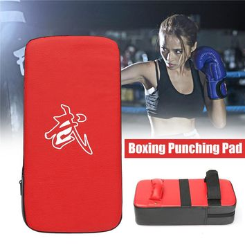 2018 PU Leather Punching Boxing Pad Rectangle MMA Kicking Strike Power Punch Training Equipment Kung-fu Martial Arts