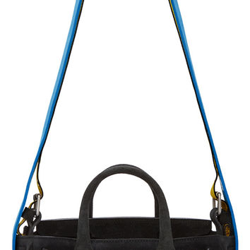 Black Suede Small Tote Bag