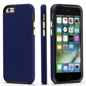 LMFMS6 iPhone 6 / 6s Case, CellEver Dual Guard Protective Shock-Absorbing Scratch-Resistant Rugged Drop Protection Cover for Apple iPhone 6 / 6S (Navy Blue)