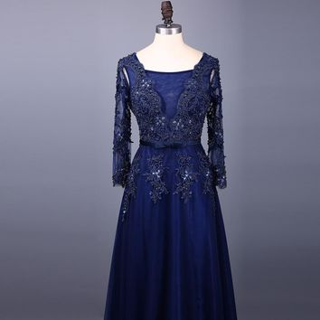 Floor Length Mother of the Bride Dresses Long Women Mother Gowns Evening Dresses