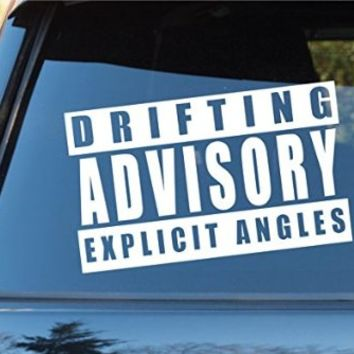 Drifting Advisory Car Window Windshield Lettering Decal Sticker Decals Stickers Drift DUB VW Stance Audi Lowered