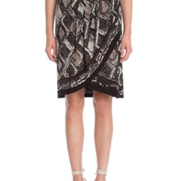 Nic & Zoe Scaled Wrap Skirt