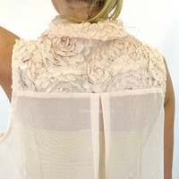 Sheer Beauty Flower Back Top
