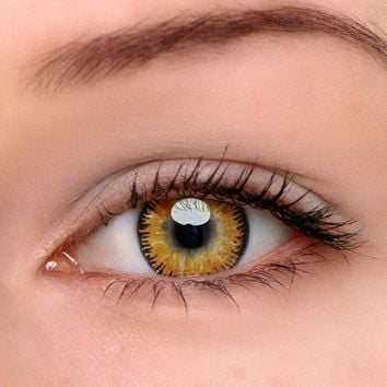 EyeDream® Eye Circle Lens Mystery Yellow Colored Contact Lenses