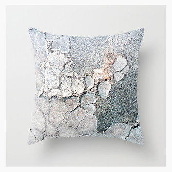 Throw Pillow Cover, StoneVision, 16x16 18x18 20x20, Decorative, Home & Living Décor, Nature, Abstract, Pattern, Steel Pale Blue, Etsy ArtBJC
