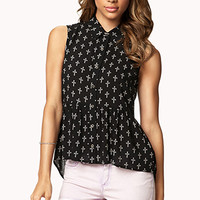 Cross Peplum Shirt