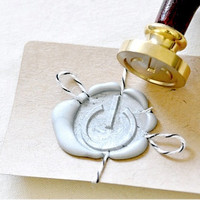 Power On Icon Gold Plated Wax Seal Stamp x 1