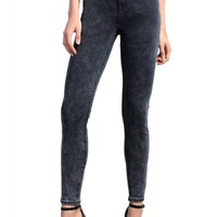 Charcoal Super High Waist Skinny Jeans | Attitude Clothing