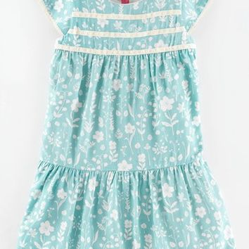 Girl's Mini Boden Floral Print Tea Dress,