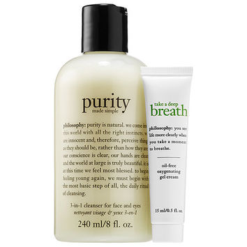 Purity + Take a Deep Breath Oxygenating Gel Cream Duo - philosophy | Sephora