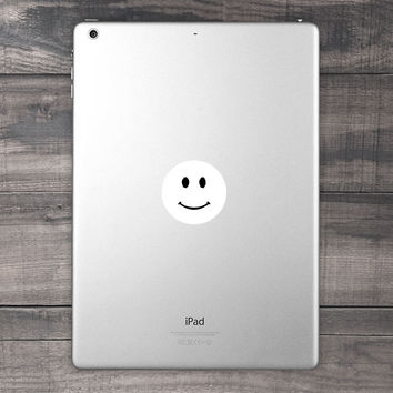 Small Smiley Face iPad Decal