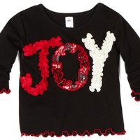 Love U Lots Baby-girls Joy Ruffle Baby Tee