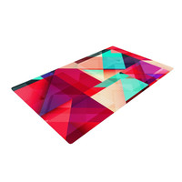 """Danny Ivan """"Still New"""" Red Pink Woven Area Rug"""