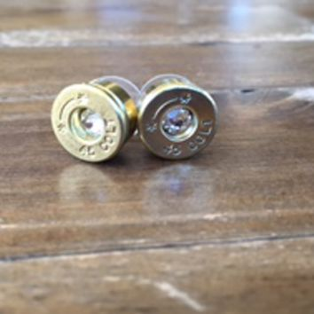 45 Long Colt Stud Earrings featuring Swarovski Crystals