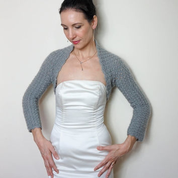 BRIDAL BOLERO, WEDDING Shrug, Crochet Lace Bolero Jacket, Wedding  Bolero, Crochet Bridal Shrug, Gray Bolero, Gray Shrug, Crochet Bolero