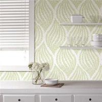 Fern Lime Green Peel and Stick Wallpaper | NU1688