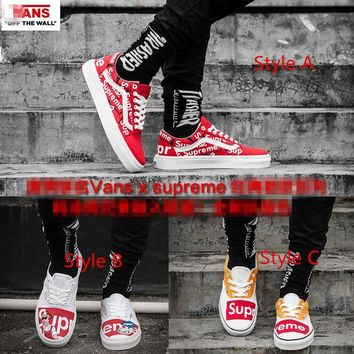 Vans x Supreme Classics Skateboarding Shoes 35-44