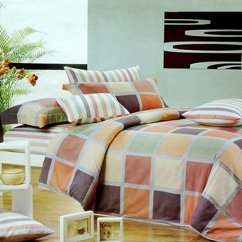 Modern Plaid Luxury Comforter Set Combo 300GSM