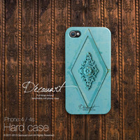 iPhone 4 case, iPhone 5s case, iPhone 5 case, case for iPhone 5, mint teal turquoise floral motif S439, christmas gift