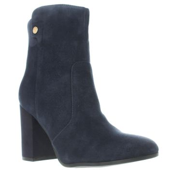 Tommy Hilfiger Natalai Western Ankle Boots, Medium Blue, 9 US