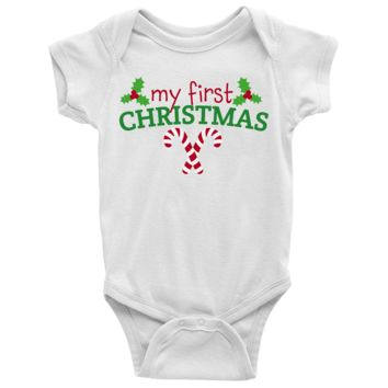 My First Chirstmas Baby Onesuit