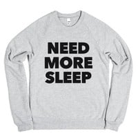 Need More Sleep Sweatshirt (IDA80BLK)-Heather Grey Sweatshirt