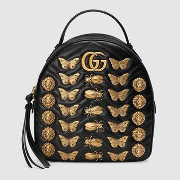 CG Marmont Animal Studs Leather Backpack Daypack