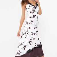 LITTLE MISTRESS PRINT MAXI DRESS