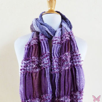 Scarf - ROCKSTYLE MULTI III - Luxury textured long chunky scarf - unisex accessories
