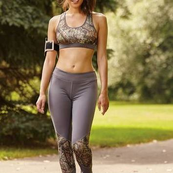 WD Mossy Oak Brak-Up & Gunmetal Gray Sports Bra