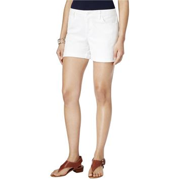 Tommy Hilfiger Womens Cuffed Five-Pocket Denim Shorts